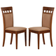 Coaster Side Chair with Cushion Back in Walnut (Set of 2) 101773