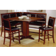 Coaster Lancaster 6pc Counter Height Dining Set in Brown 101791S
