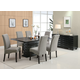 Coaster Stanton 7pc Dining Set in Black with Gray Chairs 102061S