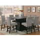 Coaster Stanton 9pc Counter Height Dining Set in Black with Gray Chairs 102068GRY