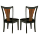 Coaster Boyer Chair in Black & Cherry (Set of 2) 102092