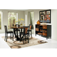 Coaster Boyer 5pc Counter Height Dining Set in Black & Cherry 102098S