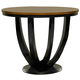 Coaster Boyer Counter Height Table in Black & Cherry 102098