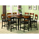 Coaster Franklin 5pc Counter Height Dining Set in Oak and Brown 102198S