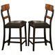 Coaster Franklin Counter Height Stool in Oak and Brown 102199 (Set of 2)