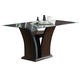 Coaster Rodeo Glass Top Dining Table in Cherry 102240