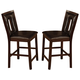 Coaster Ervin Counter Height Stool in Espresso (Set of 2) 102529