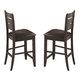Coaster Dalila Counter Height Stool in Cappuccino (Set of 2) 102729