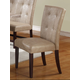 Acme Britney Button Tufted Bycast Leather Dining Side Chairs in Cream 10284 (Set of 2)
