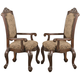 Coaster Andrea Arm Chair in Brown Cherry (Set of 2) 103113