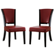 Coaster 1036 Upholstered Side Chair in Red (Set of 2) 103682RED