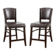 Coaster 1036 Upholstered Counter Stool in Brown (Set of 2) 103689BRN