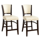 Coaster 1036 Upholstered Counter Stool in Ivory (Set of 2) 103689IVY