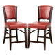 Coaster 1036 Upholstered Counter Stool in Red (Set of 2) 103689RED