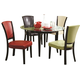 Coaster 1036 5pc Round Table & Upholstered Side Chair Set in Multicolor