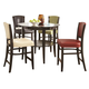 Coaster 1036 5pc Pub Table & Upholstered Stool Set in Multicolor