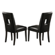 Coaster Newbridge Dining Side Chair in Black (Set of 2) 103612BLK