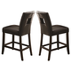 Coaster Newbridge Counter Height Stool in Black (Set of 2) 103619BLK