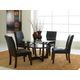 Standard Furniture Apollo Round Glass Table Set in Deep Brown 10800