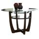 Standard Furniture Apollo Round Glass Table in Deep Brown 10801