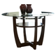 Standard Furniture Apollo Round Glass Counter Height Table in Deep Brown 10816