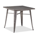 Zuo Modern Olympia Dining Table Gunmetal 109125