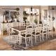 Whitesburg 11-Piece Rectangular Extension Dining Table Set in Brown - White