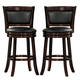 Homelegance Shapel Swivel Counter Height Chair in Cherry (set of 2) 1131-29S