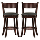 Homelegance Shapel Swivel Counter Height Chair in Cherry (set of 2) 1136-29S