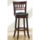 Homelegance Edmond Swivel Counter Height Chair in Dark Cherry (set of 2) 1140E-24S