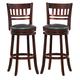 Homelegance Edmond Swivel Counter Height Chair in Dark Cherry (set of 2) 1140E-29S