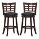 Homelegance Edmond Swivel Counter Height Chair in Dark Cherry (set of 2) 1142E-29S