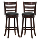 Homelegance Edmond Swivel Counter Height Chair in Dark Cherry (set of 2) 1144E-24S