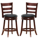 Homelegance Edmond Swivel Counter Height Chair in Dark Cherry (set of 2) 1144E-29S