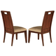 Acme Donovan Side Chairs in Walnut 11802 (Set of 2)