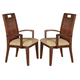 Acme Donovan Arm Chairs in Walnut 11803 (Set of 2)
