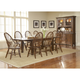 Broyhill Attic Heirlooms 9pc Formal Dining Room Set in Rustic Oak
