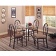 Coaster Odelia 5pc Dining Set in Black 120565