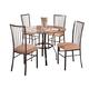 Coaster Layne 5pc Dining Set in Black 120566