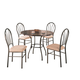 Coaster Halle 5pc Dining Set in Brown 120568