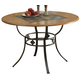 Coaster Dining Table in Bronze and Medium Oak 120771
