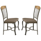 Coaster Dining Chair in Bronze and Medium Oak (Set of 2) 120772
