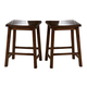 Liberty Furniture Cabin Fever Sawhorse Counter Stool in Bistro Brown Finish 121-B0000024 (Set of 2)