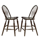 Liberty Furniture Cabin Fever Windsor Back Barstool in Bistro Brown Finish 121-B100024 (Set of 2)