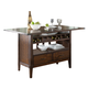Liberty Furniture Cabin Fever Center Island in Bistro Brown Finish 121-IT3660