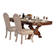 Acme Dresden Pedestal Dining Table in Brown Cherry Oak 12150 SPECIAL