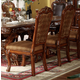Acme Dresden Pedestal Dining Side Chairs in Brown Cherry Oak 12153 (Set of 2)