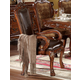 Acme Dresden Pedestal Dining Arm Chairs in Brown Cherry Oak 12154 (Set of 2) SPECIAL CLEARANCE