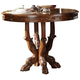 Acme Dresden Round Pedestal Counter Height Dining Table in Brown Cherry Oak 12160 SPECIAL