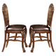 Acme Dresden Counter Height Dining Chairs in Brown Cherry Oak 12162 (Set of 2)